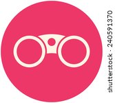 binocular icon  looking for... | Shutterstock .eps vector #240591370