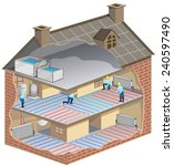 house maintenance   illustration | Shutterstock . vector #240597490
