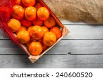 Clementine Fruits In A Box On ...
