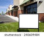 horizontal shot of blank... | Shutterstock . vector #240609484