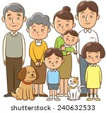 family  home  three generation  ... | Shutterstock . vector #240632533