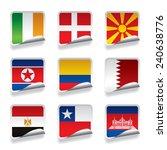 set of world sticker flags....   Shutterstock . vector #240638776
