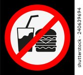 do not eat and drink | Shutterstock .eps vector #240639694