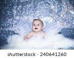 bright portrait of adorable baby | Shutterstock . vector #240641260