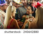 Young People Toasting At New...