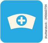 nurse cap  modern flat icon | Shutterstock .eps vector #240660754