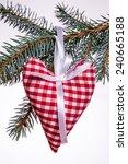 christmas heart of the material | Shutterstock . vector #240665188