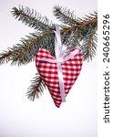 christmas heart of the material | Shutterstock . vector #240665296