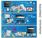 creative team flyer template  ... | Shutterstock .eps vector #240665356