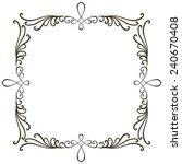 vector black ornamental... | Shutterstock .eps vector #240670408