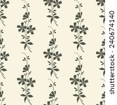 vector seamless floral... | Shutterstock .eps vector #240674140