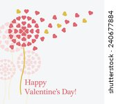 st. valentine's day vector card | Shutterstock .eps vector #240677884