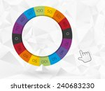 Color Wheel Of Fortune With Th...