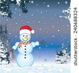 snowman vector | Shutterstock .eps vector #240688324
