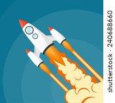 flat rocket icon. startup... | Shutterstock . vector #240688660