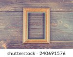 photo frame on wooden... | Shutterstock . vector #240691576