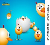 Funny Easter Eggs Chicks  ...