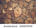 close up view of pieces of teak ... | Shutterstock . vector #240693940