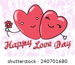cute card for valentine's day... | Shutterstock .eps vector #240701680