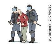 arrest | Shutterstock .eps vector #240704380
