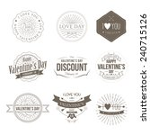 badges valentine vintage | Shutterstock .eps vector #240715126