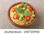 indian spicy food daliya  upama ... | Shutterstock . vector #240720940
