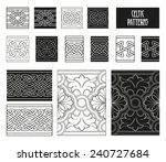 celtic patterns set black and... | Shutterstock .eps vector #240727684