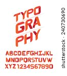 typography design font for you. | Shutterstock .eps vector #240730690