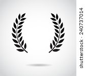 laurel icon isolated on white... | Shutterstock .eps vector #240737014