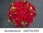 Stock photo a bouquet of flowers bouquet of a hundred red roses 240741553