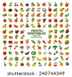 food icon set. the collection... | Shutterstock .eps vector #240744349