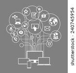 flat design vector concept... | Shutterstock .eps vector #240745954