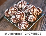 chocolate crinkles. chocolate... | Shutterstock . vector #240748873