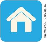 home  modern flat icon | Shutterstock .eps vector #240750316