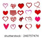 heart shape set | Shutterstock . vector #240757474