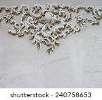 baroque ornament detail wall... | Shutterstock . vector #240758653