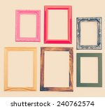 frame process in vintage style... | Shutterstock . vector #240762574