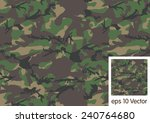 woodland camouflage pattern   Shutterstock .eps vector #240764680