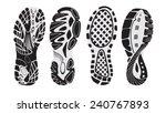 footprint sport shoes | Shutterstock .eps vector #240767893