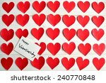 valentines day message card on... | Shutterstock . vector #240770848
