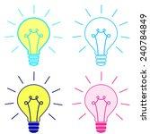 set light bulb vector | Shutterstock .eps vector #240784849