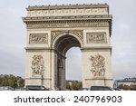 arc de triomphe de l'etoile on...   Shutterstock . vector #240796903