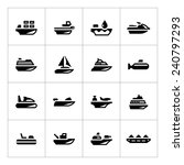 set icons of water transport... | Shutterstock .eps vector #240797293