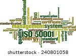iso 50001 word cloud concept.... | Shutterstock .eps vector #240801058