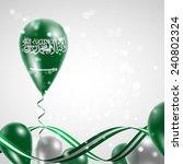 flag of saudi arabia on balloon.... | Shutterstock .eps vector #240802324