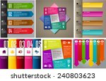 colorful modern text box... | Shutterstock .eps vector #240803623