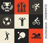 sport icons pack | Shutterstock .eps vector #240809470