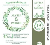 retro wedding invitation design ... | Shutterstock .eps vector #240814483
