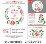retro wedding design template... | Shutterstock .eps vector #240814498