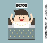 businessman wake up early ... | Shutterstock .eps vector #240821806